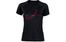 Asics Women's Graphic SS Tee 2 performance black/diva pink